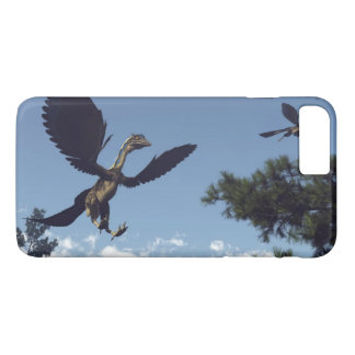 Archaeopteryx birds dinosaurs flying - 3D render iPhone 8 Plus/7 Plus Case