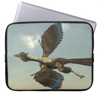 Archaeopteryx birds dinosaurs flying - 3D render Laptop Sleeve