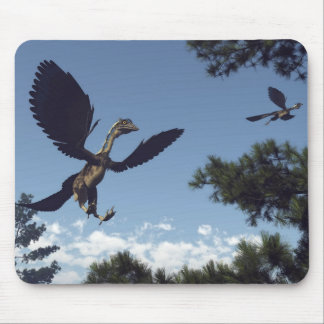 Archaeopteryx birds dinosaurs flying - 3D render Mouse Pad