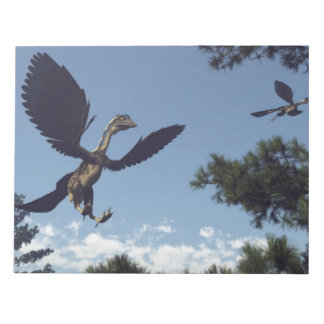 Archaeopteryx birds dinosaurs flying - 3D render Notepad