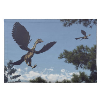 Archaeopteryx birds dinosaurs flying - 3D render Placemat