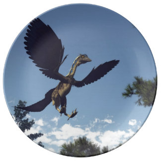 Archaeopteryx birds dinosaurs flying - 3D render Plate