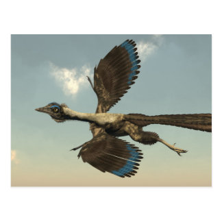 Archaeopteryx birds dinosaurs flying - 3D render Postcard