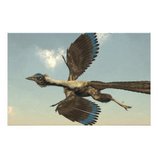 Archaeopteryx birds dinosaurs flying - 3D render Stationery