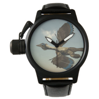 Archaeopteryx birds dinosaurs flying - 3D render Wrist Watches
