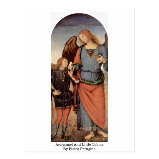 Archangel And Little Tobias By Pietro Perugino Postcard