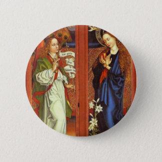 Archangel Gabriel - Annunciation - Schongauer 2 Inch Round Button