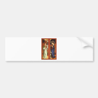 Archangel Gabriel - Annunciation - Schongauer Bumper Sticker