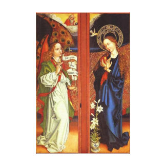 Archangel Gabriel - Annunciation - Schongauer Canvas Print
