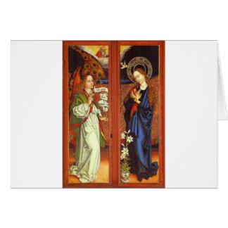 Archangel Gabriel - Annunciation - Schongauer Card