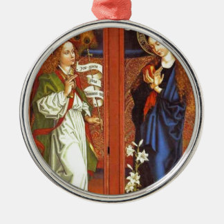 Archangel Gabriel - Annunciation - Schongauer Metal Ornament