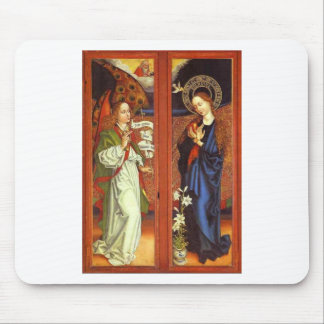 Archangel Gabriel - Annunciation - Schongauer Mouse Pad