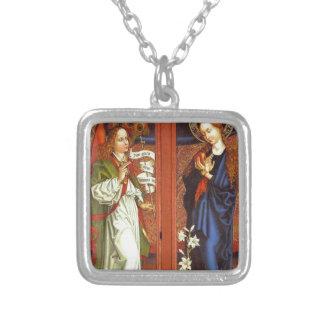 Archangel Gabriel - Annunciation - Schongauer Silver Plated Necklace