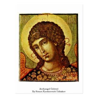 Archangel Gabriel By Simon Fyodorovich Ushakov Postcard