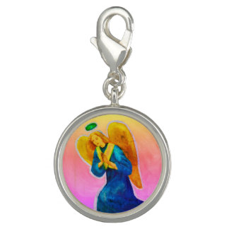 Archangel Gabriel Charm: Sterling Silver Plated Photo Charms