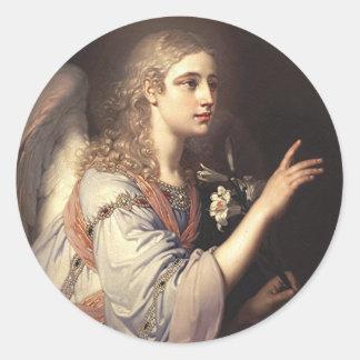 Archangel Gabriel from the Annunciation Round Sticker