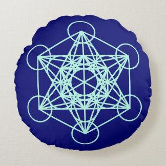 Archangel Metatron Sacred Geometry Round Pillow