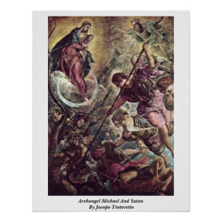 Archangel Michael And Satan By Jacopo Tintoretto Poster