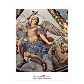 Archangel Michael By Angelo Bronzino Postcard