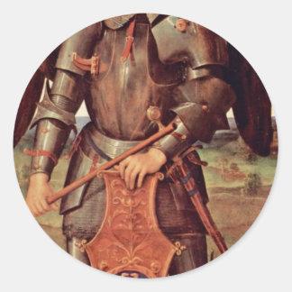 Archangel Michael By Perugino Pietro (Best Quality Round Sticker
