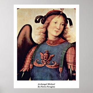 Archangel Michael By Pietro Perugino Poster