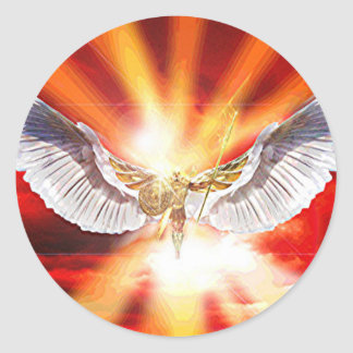 Archangel Michael Classic Round Sticker