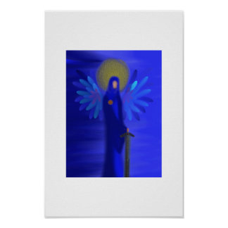 Archangel Michael - Divine Protection Poster