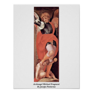 Archangel Michael Fragment By Jacopo Pontormo Poster