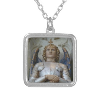 Archangel Michael Silver Plated Necklace