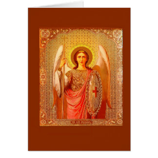 ARCHANGEL MICHAEL - VINTAGE CHRISTMAS CARD