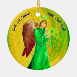 Archangel Raphael Circle Ornament