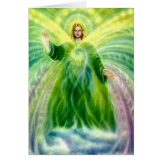 Archangel Raphael Healing Light Birthday Card