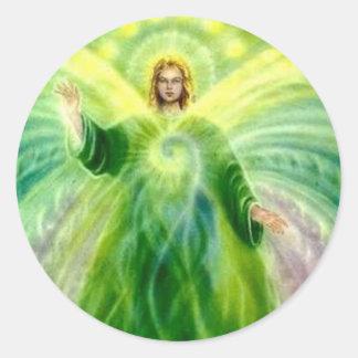 Archangel Raphael Healing Light Classic Round Sticker