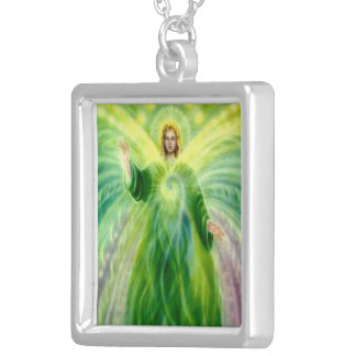Archangel Raphael Pendent Necklace. Silver Plated Necklace