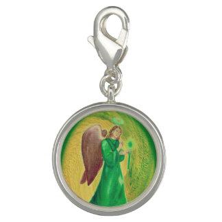 Archangel Raphael Silver Plated Charm