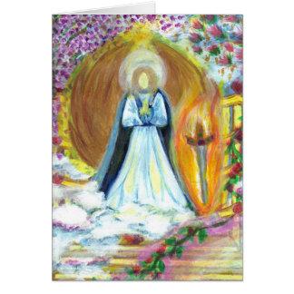 Archangel Uriel Greeting Card w/ Inspiring Message