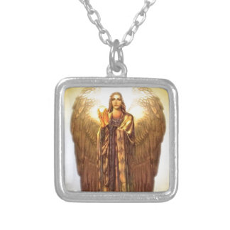 Archangel Uriel Silver Plated Necklace