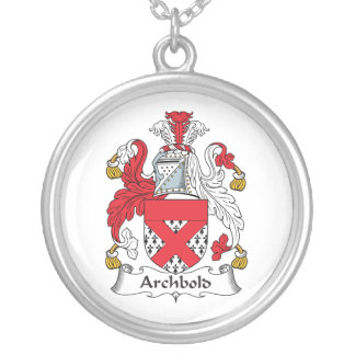Archbold Family Crest Silver Plated Necklace