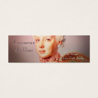 Archduchess Skinny French Baroque Mini Business Card
