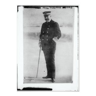 "Archduke Franz Ferdinand of Austria 5"" X 7"" Invitation Card"