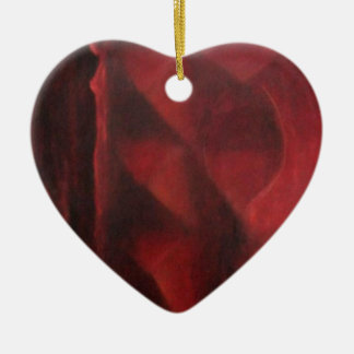 Arche red design by adrian dica painting ceramic heart ornament
