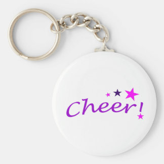 Arched Cheer with Stars Keychain