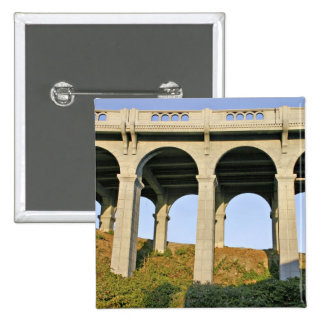 Arched supports Patterson Memorial Bridge 2 Inch Square Button