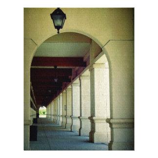Arched Walkway Custom Letterhead