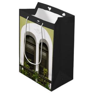 Arched Window at Old San Juan, Puerto Rico Green Medium Gift Bag