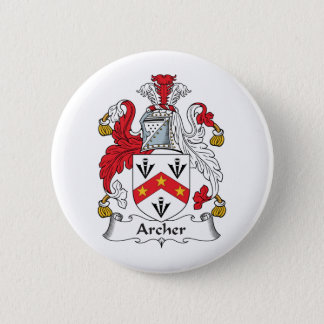 Archer Family Crest 2 Inch Round Button