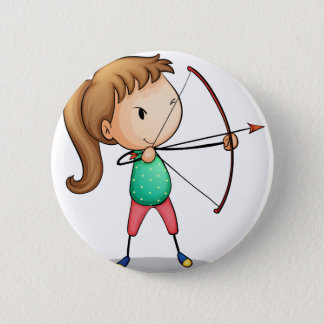 archer girl 2 inch round button