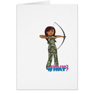 Archer Girl in Camo - Dark Greeting Card