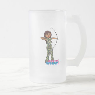 Archer Girl in Camo - Dark Frosted Beer Mug