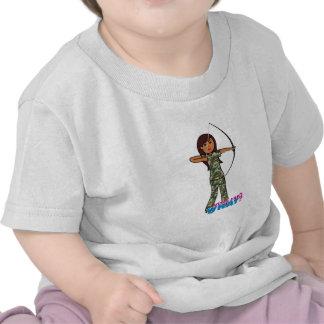 Archer Girl in Camo - Dark Shirt